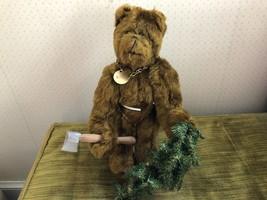 OOAK Carol Martin Artist Made Mohair Teddy Bear Woody w Glass Eyes w Axe... - $65.29