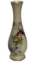 """Vintage Lenox Serenade Bud Vase Bird Flowers 8 3/4"""" 24K Gold Trim Made I... - $18.80"""