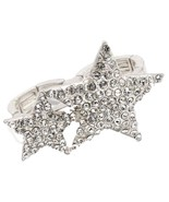 Double Star Two Finger Ring C24 Clear Crystal M... - $18.69