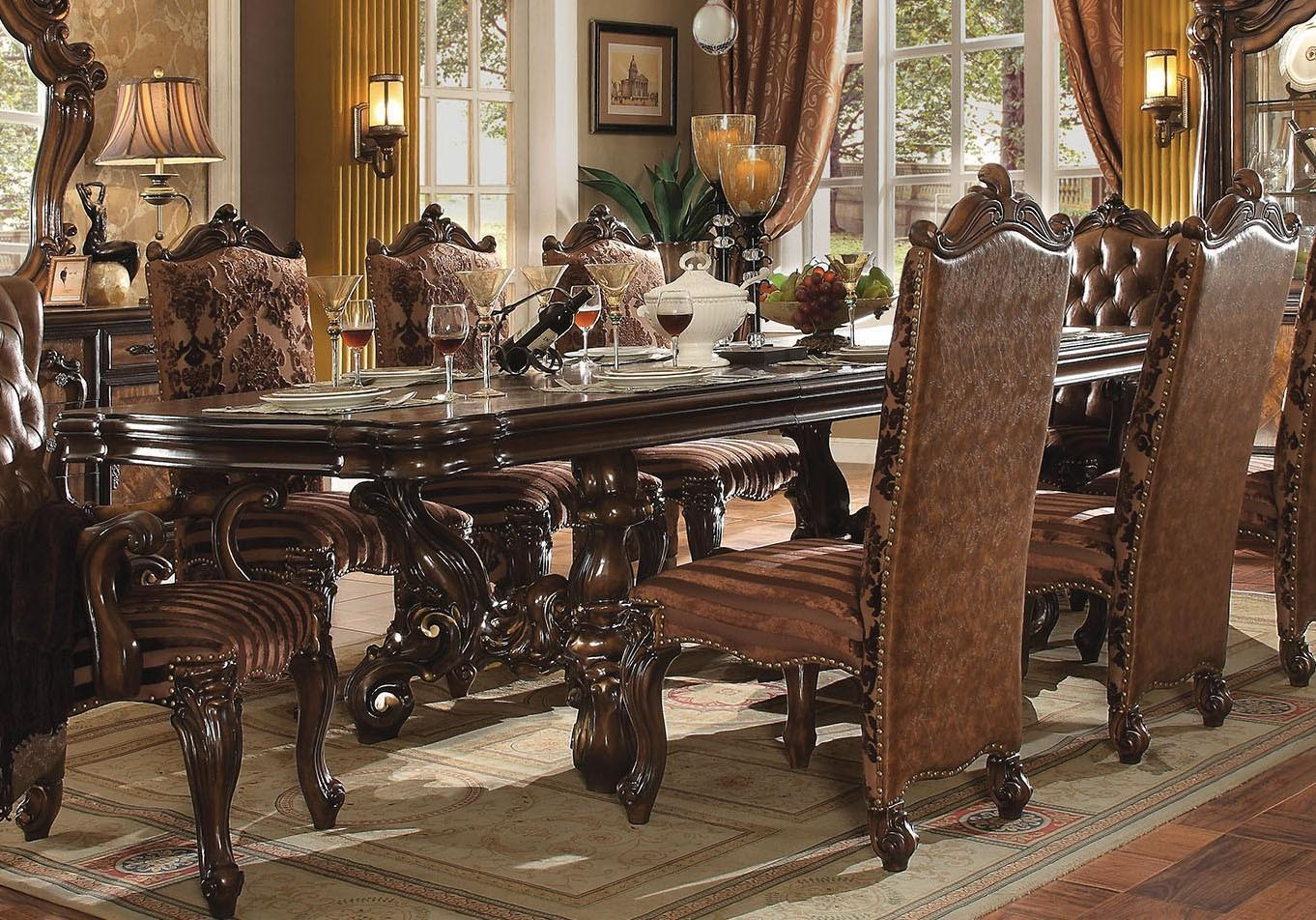 Acme Versailles 61100 SET 5 Cherry Dining Room Set