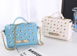 Free Shipping Chain Shoulder Bags Medium Handbags Rivets Bags K033-1 - $36.99