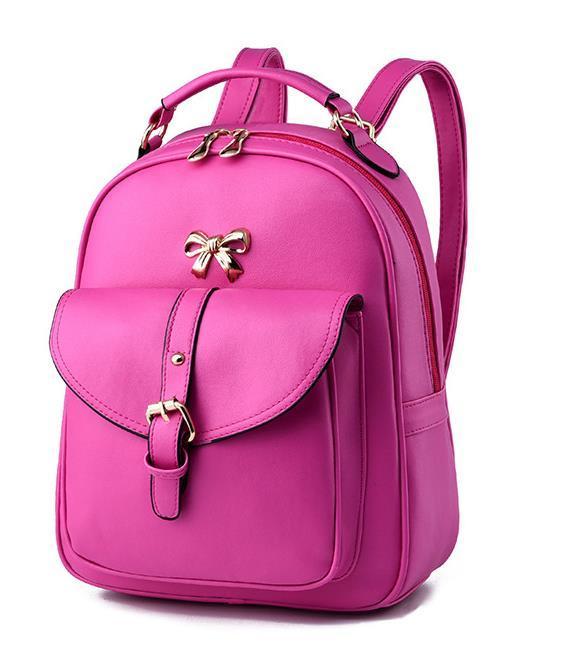 Sweet Girl's Leather School Backpacks Medium Bookbags,Backpacks G034-1 image 4