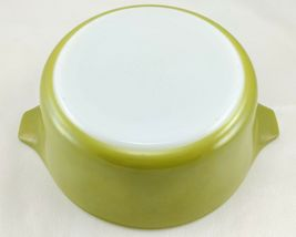 Pyrex 472 Olive Green Vintage 1½ Pint Casserole w/ 470-C Lid ~ Made in the USA image 6