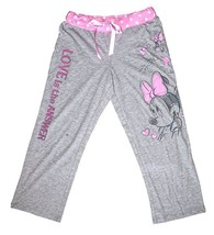 Disney Minnie Mouse Womens Pajama Pants Petite Love is the Answer - Grey - $18.47