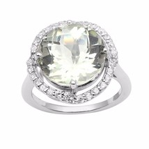 Women Collection Jewelry Green Amethyst Gemstone 925 Sterling Ring Sz 6 ... - $25.04