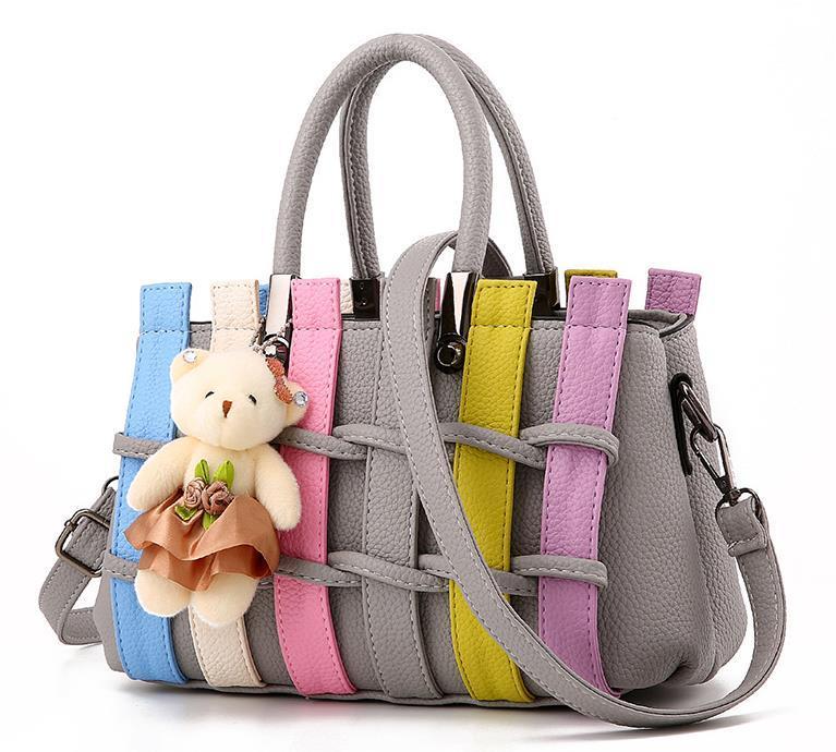 Free Shipping Women Handbags Patchwork Style Shoulder Bags,Purse KM041-9 - $39.99