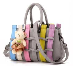 Free Shipping Women Handbags Patchwork Style Shoulder Bags,Purse KM041-9 - $808,40 MXN