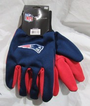 Nfl Nwt No Slip Palm Utility Gloves - New England Patriots - Blue W/ Red Palm - $9.75