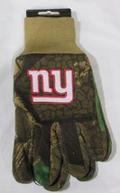 Nfl Nwt Camouflaged No Slip Utility Work Gloves - New York Giants - Camo - $11.99