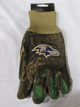 Nfl Nwt Camouflaged No Slip Utility Work Gloves - Baltimore Ravens - Camo - $8.95