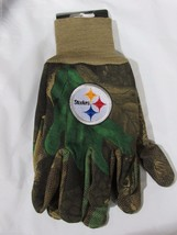 Nfl Nwt Camouflaged No Slip Utility Work Gloves - Pittsburgh Steelers - Camo - $9.99