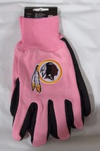 Nfl Nwt 2-TONE Pink No Slip Utility Work Gloves - Washington Redskins - $12.95