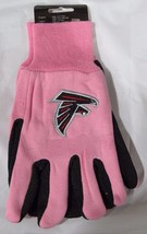 Nfl Nwt 2-TONE Pink No Slip Utility Work Gloves - Atlanta Falcons - $10.95