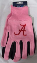 Ncaa Nwt 2-TONE Pink No Slip Utility Work Gloves - Alabama Crimson Tide A Logo - $12.95