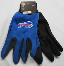 Nfl Nwt No Slip Utility Work Gloves - Buffalo Bills - Royal Blue W/ Black Palm - $8.25