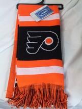 "NWT NHL 2012 TEAM STRIPE ACRYLIC SCARF 64""x7"" - PHILADELPHIA FLYERS - $18.95"