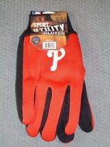 Mlb Nwt No Slip Utility Work Gloves 'P' Logo - Philadelphia Phillies - $7.95