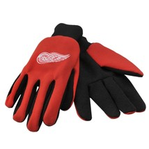 NHL NWT NO SLIP UTILITY WORK GLOVES - DETROIT RED WINGS - £5.89 GBP