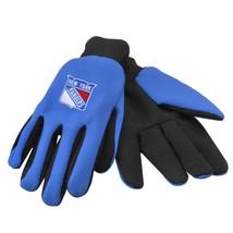 NHL NWT NO SLIP UTILITY WORK GLOVES - NEW YORK RANGERS-BLUE W/ BLACK PALM - $8.98