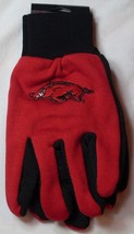 Ncaa Nwt Team Color No Slip Palm Utility Gloves - Arkansas Razorbacks - $7.95