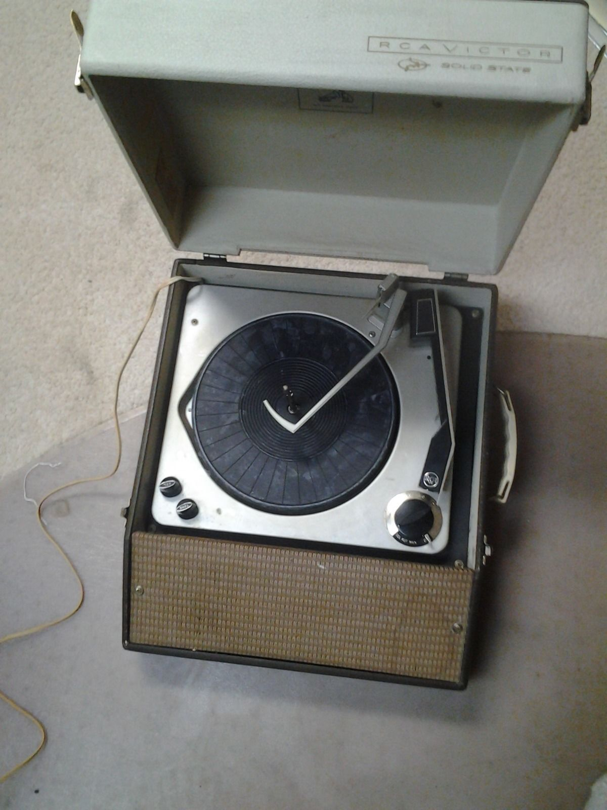 Vintage Rca Victor Solid State Portable Record Player