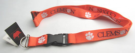 Ncaa Nwt Keychain Lanyard - Clemson Tigers - Current Logo And Name - $6.95