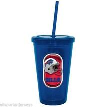 NIP NFL 16 OZ SIP N' GO TRAVEL TUMBLER W/ STRAW - BUFFALO BILLS - $17.99
