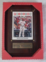 Nib Mlb Trading Card Wooden Wall Plaque - Philadelphia Philles - Ryan Howard - $8.99