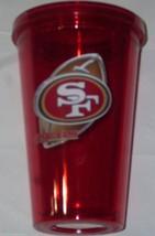 NIP NFL 16 OZ SIP N' GO TRAVEL TUMBLER W/ STRAW - SAN FRANCISCO 49ERS - $17.99