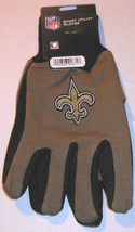 Nfl Nwt No Slip Utility Work Gloves - New Orl EAN S Saints - Gold W/ Black Palm - $7.95