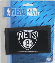 Nba Nwt Printed TRI-FOLD Nylon Wallet - Brooklyn Nets - $7.95