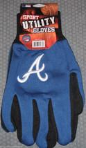 Mlb Nwt No Slip Utility Work Gloves - Atlanta Braves - $7.90