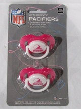 NFL NIB PACIFIER - SET OF 2 - CLEVELAND BROWNS - PINK - SOLID ON CARD - €7,63 EUR
