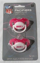 NFL NIB PACIFIER - SET OF 2 - SEATTLE SEAHAWKS - PINK - SOLID ON CARD - $8.98