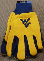 Ncaa Nwt No Slip Utility Work Gloves - West Virginia Mountaineers - $8.95
