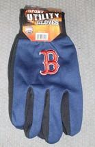 """Mlb Nwt No Slip Utility Work Gloves """"B"""" Logo - Boston Red Sox - $7.95"""