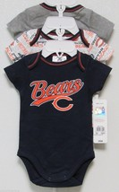 Nfl Nwt Infant ONESIE-SET Of 3- Chicago Bears 0-3 Months - $29.95