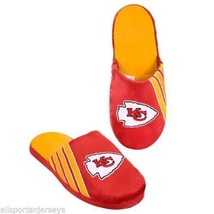 Nwt Nfl Stripe Logo Slide Slippers - Kansas City Chiefs - Medium - $19.95