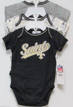 Nfl Nwt Infant ONESIE-SET Of 3- New Orl EAN S Saints 6-12 Months - $29.95