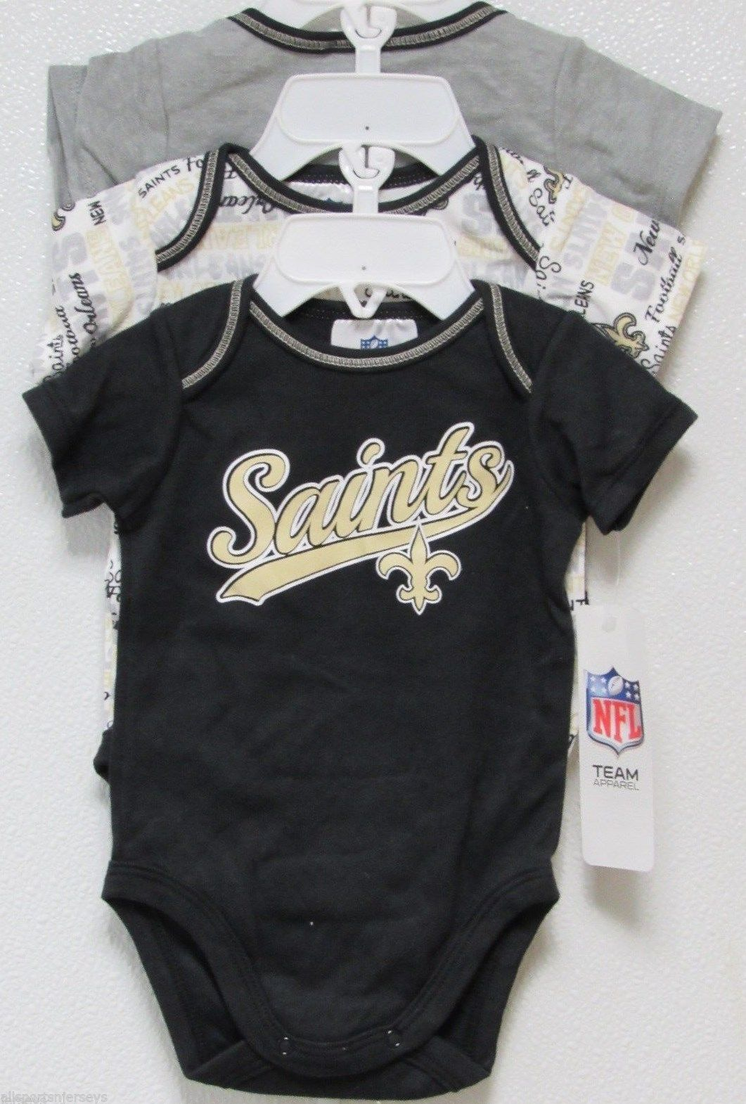 4ac5a780 Nfl Nwt Infant ONESIE-SET Of 3- New Orl EAN and 50 similar items