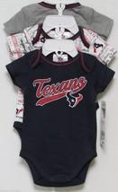 Nfl Nwt Infant ONESIE-SET Of 3- Houston Texans 3-6 Months - $29.95