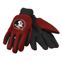 Ncaa Nwt Team Color No Slip Palm Utility Gloves - Florida State Seminoles - $8.50