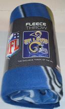 Nfl Nib 50x60 Rolled Fleece Blanket Gridiron Design - St. Louis Rams - $21.95