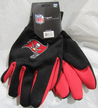 Nfl Nwt No Slip Palm Utility Gloves - Tampa Bay Buccaneers - Red W/ Black Palm - $9.95