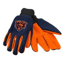 Nfl Nwt No Slip Palm Utility Gloves - Chicago Bears - Dark Blue W/ Orange Palm - $9.95