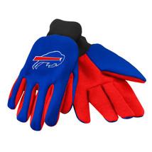 Nfl Nwt No Slip Palm Utility Gloves - Buffalo Bills - Royal Blue W/ Red Palm - $9.75