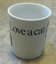 B. Kliban Love A Cat Mug Cup Coffee Tea 10 Ounce oz Animal Kiss Pottery ... - $19.75