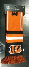 "Nwt Nfl 2013 Wordmark Team Stripe Acrylic Scarf 64""x7"" - Cincinnati Bengals - $17.95"