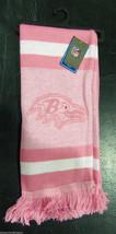 "Nwt Nfl 2012 Pink Team Stripe Acrylic Scarf 64""x7"" - Baltimore Ravens - $18.99"