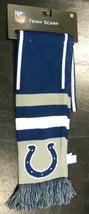 "Nwt Nfl 2013 Wordmark Team Stripe Acrylic Scarf 64""x7"" - Indianapolis Colts - $17.95"
